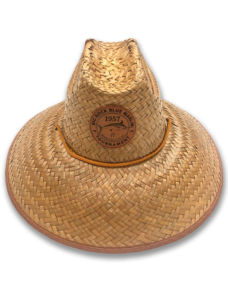 Lifeguard Straw Hat, Leather Patch