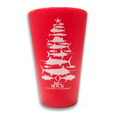 Big Rock 16 oz. Christmas Fish Tree Silipint Cup, Red