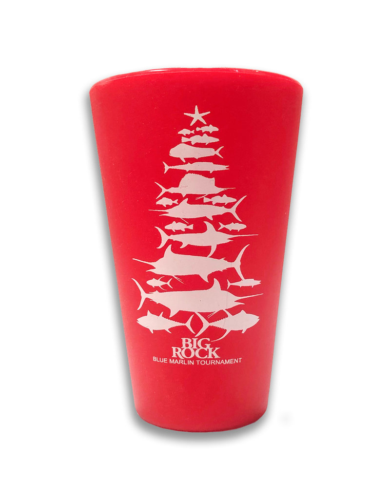 16 oz. Christmas Fish Tree Silipint Cup, Red