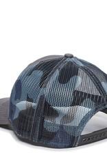 Cut Through Patch Outdoor Trucker Charcoal/Blue Camo
