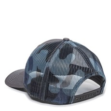 Cut Through Patch Outdoor Trucker Charcoal/Blue Camo
