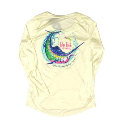 KWLA x BR Ladies Crewneck Long Sleeve Performance Shirt