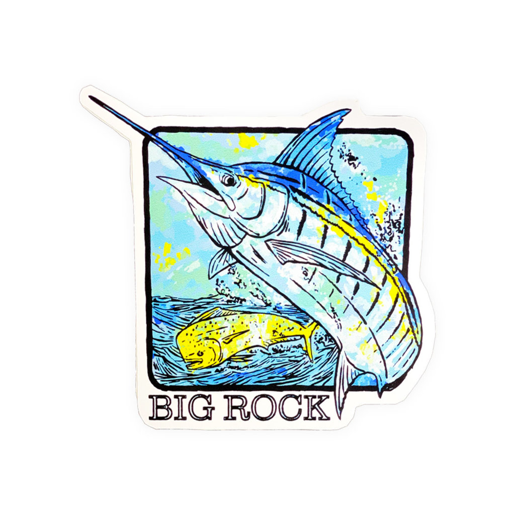 Big Rock Marlin Box Sticker