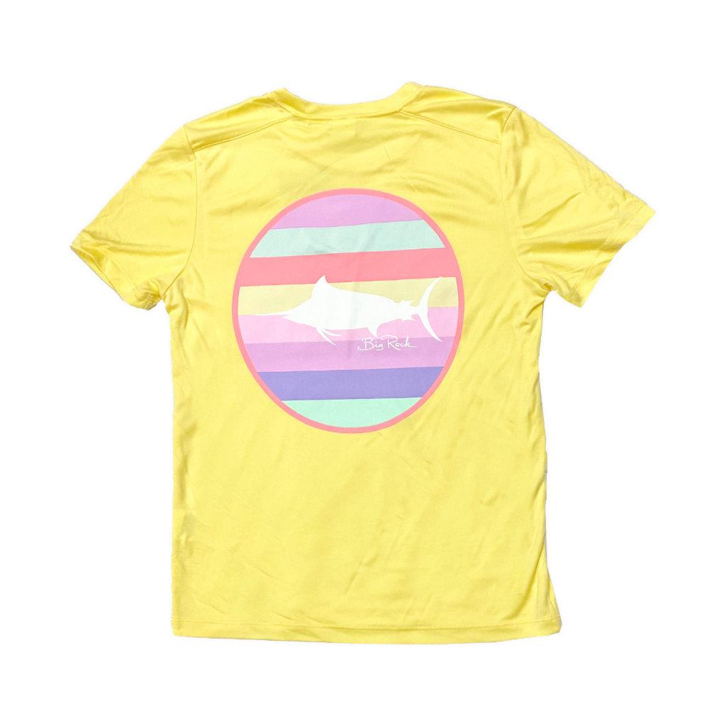 Youth Multi Stripe Short Sleeve Performance Shirt