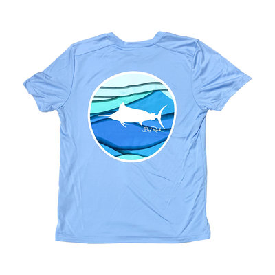 Big Rock Youth Coastal Wave Short Sleeve Performance Shirt