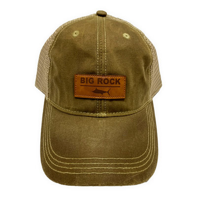 Big Rock Divide Leather Patch Trucker