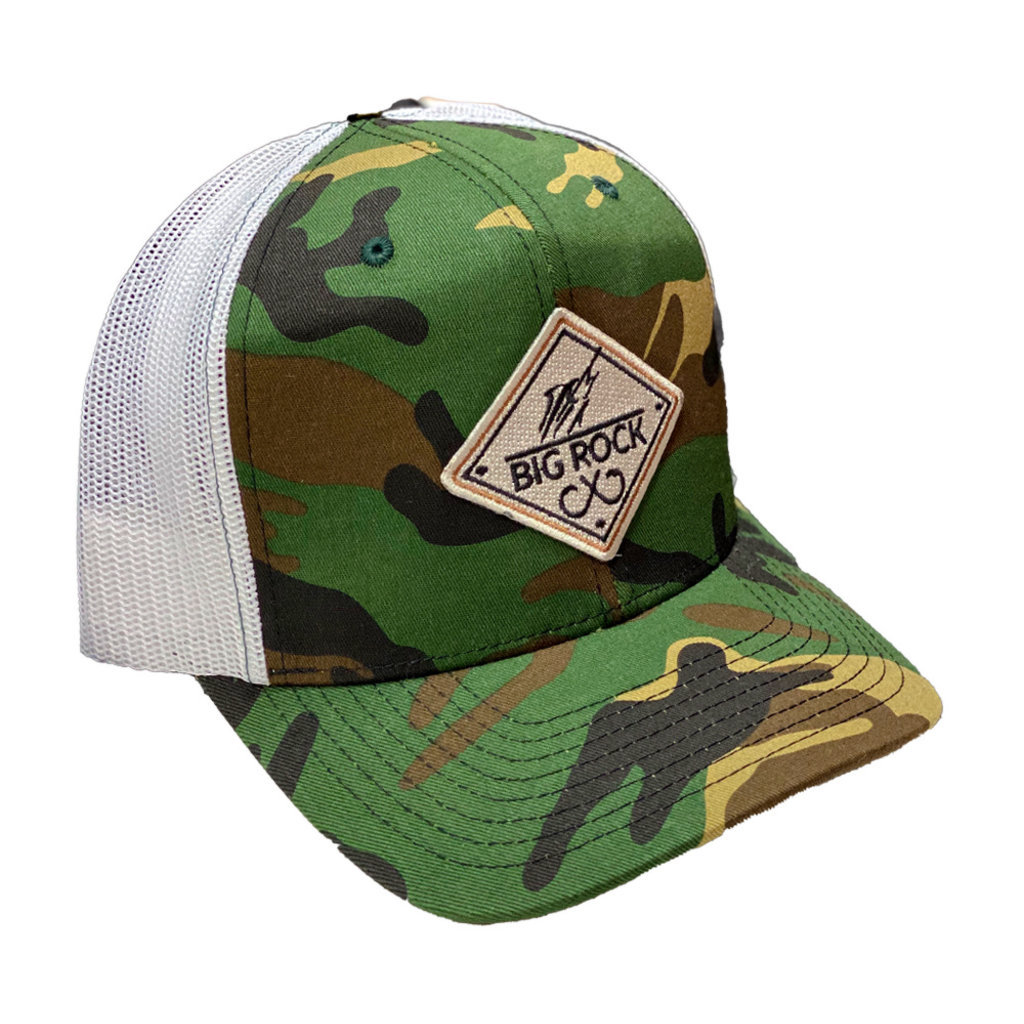Big Rock Double Hooks Diamond Camo Trucker