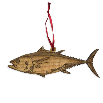 Big Rock Wooden Tuna Ornament