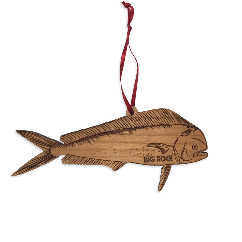 Big Rock Wooden Mahi Ornament