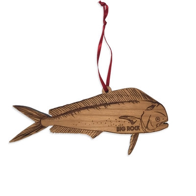 Big Rock Wooden Mahi Ornament