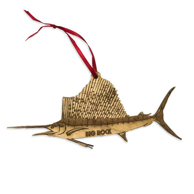 Big Rock Wooden Sailfish Ornament