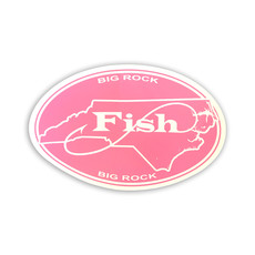 Big Rock Pink FISH Sticker