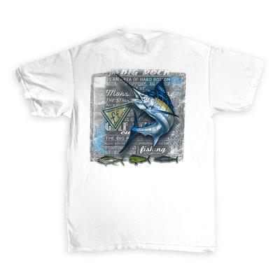 Big Rock Chalkboard Marlin Short Sleeve T-Shirt (4 Colors)