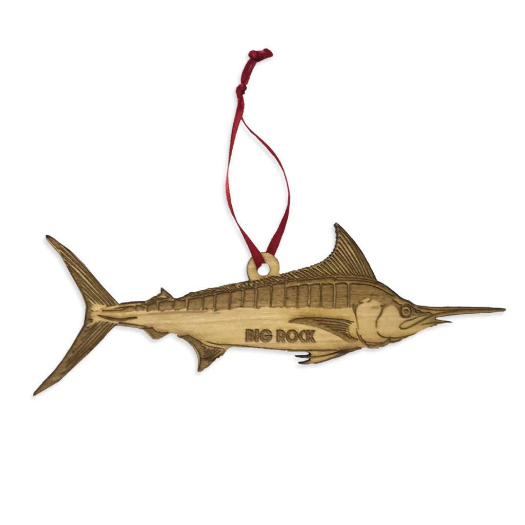 Big Rock Wooden Marlin Ornament