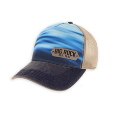 Big Rock Offset Leather Patch Trucker