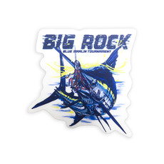 Big Rock Blue With Lure Sticker