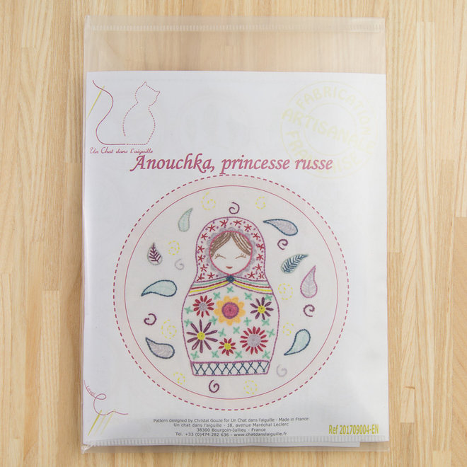 Un Chat dans l'Aiguille Un Chat Embroidery Kit - Anouchka the Russian  Princess