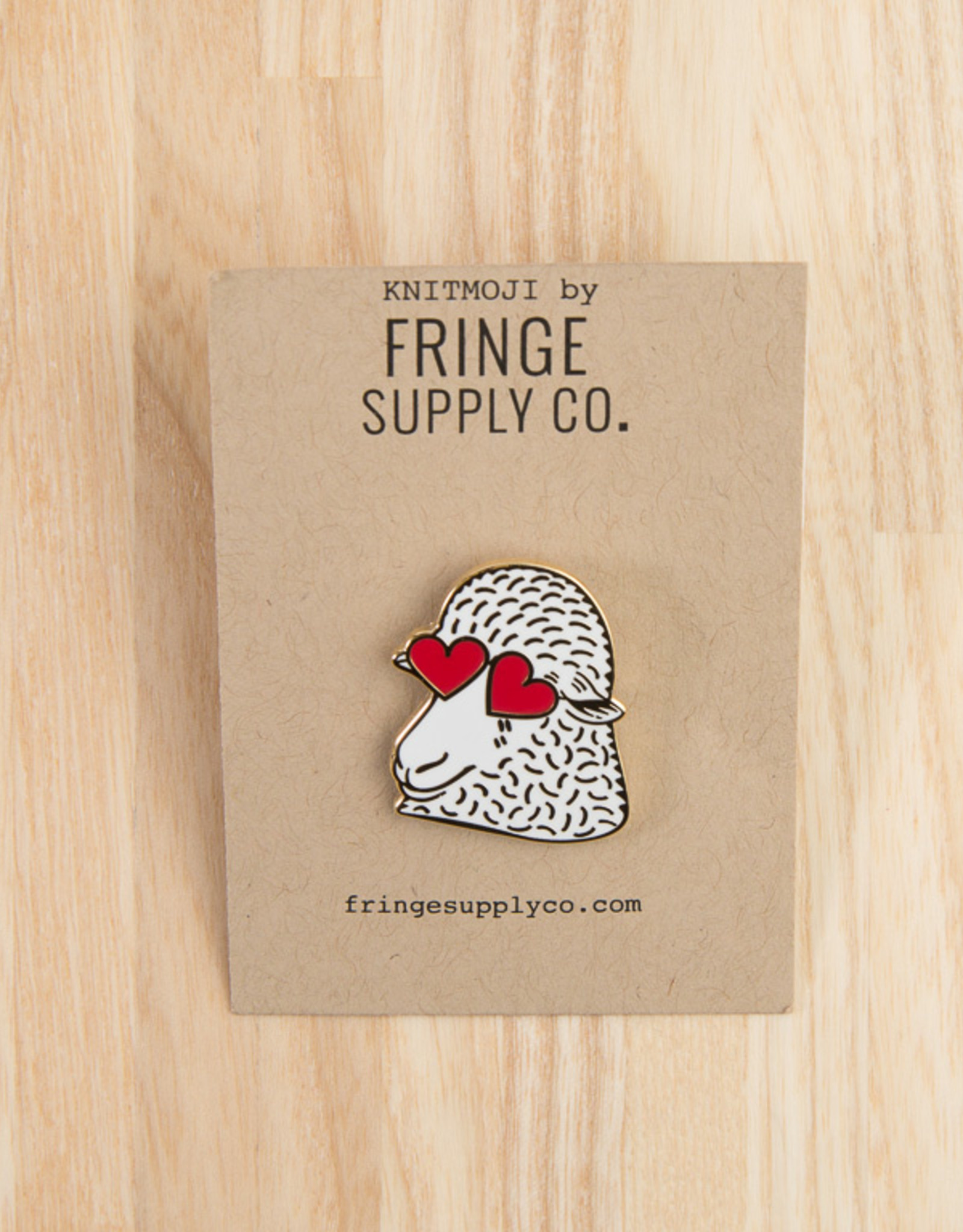 Fringe Supply Co. Fringe Supply Co. Enamel Pin Heart-eyed Sheep
