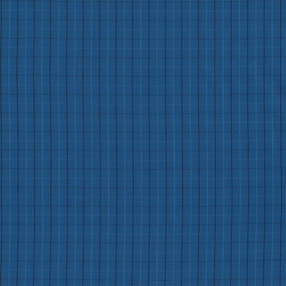 Carolyn Friedlander : Harriot : Blue Thin Check Yarn Dyed : 1/2 metre