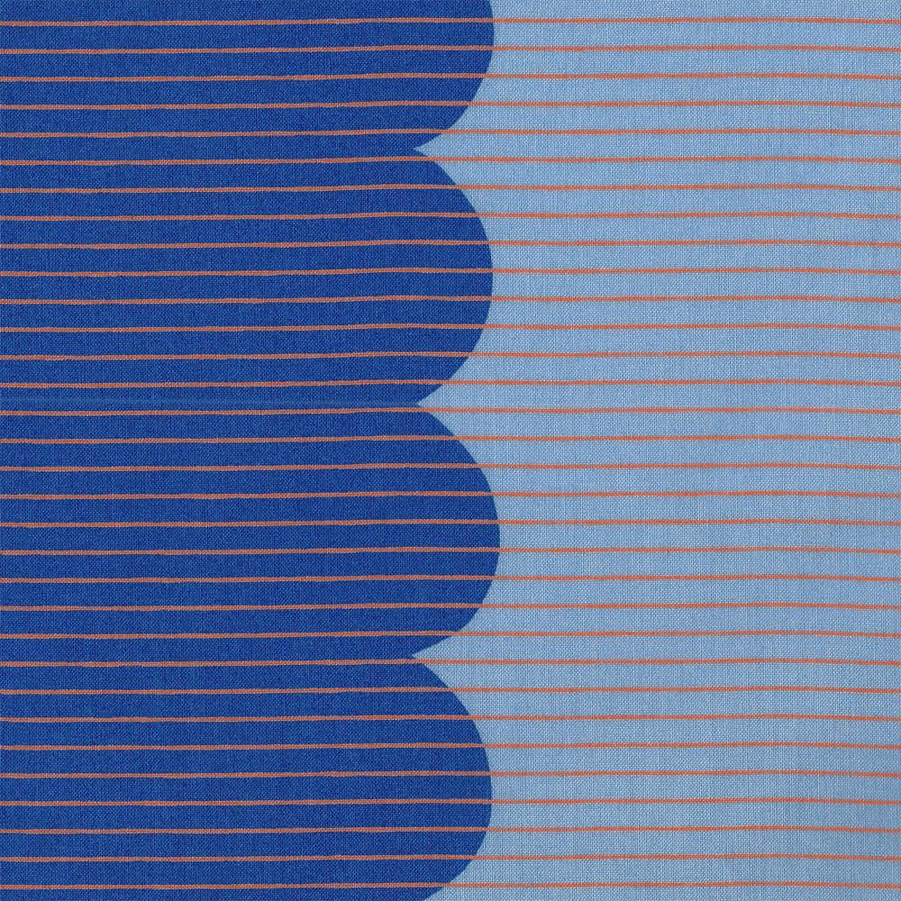 Carolyn Friedlander : Harriot : Blueprint Scallop Single Border : 1/2 metre