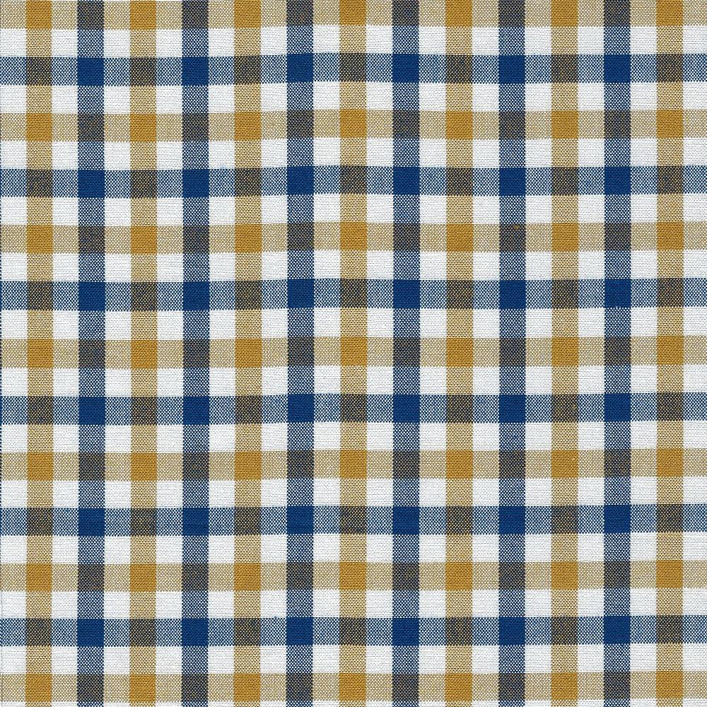 Carolyn Friedlander : Harriot : Navy Double Check Yarn Dyed : 1/2 metre