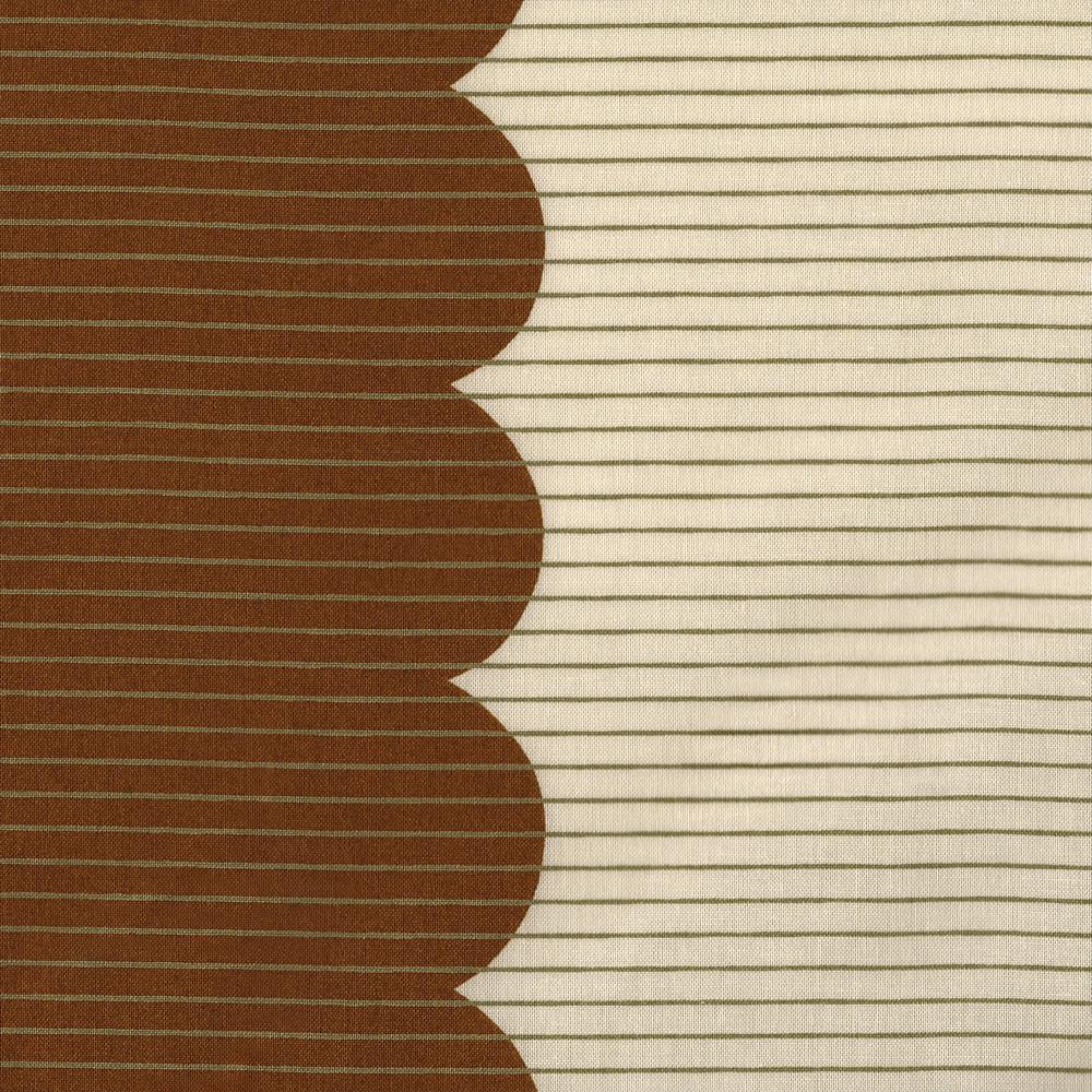 Carolyn Friedlander : Harriot : Roasted Pecan Scallop Single Border : 1/2 metre