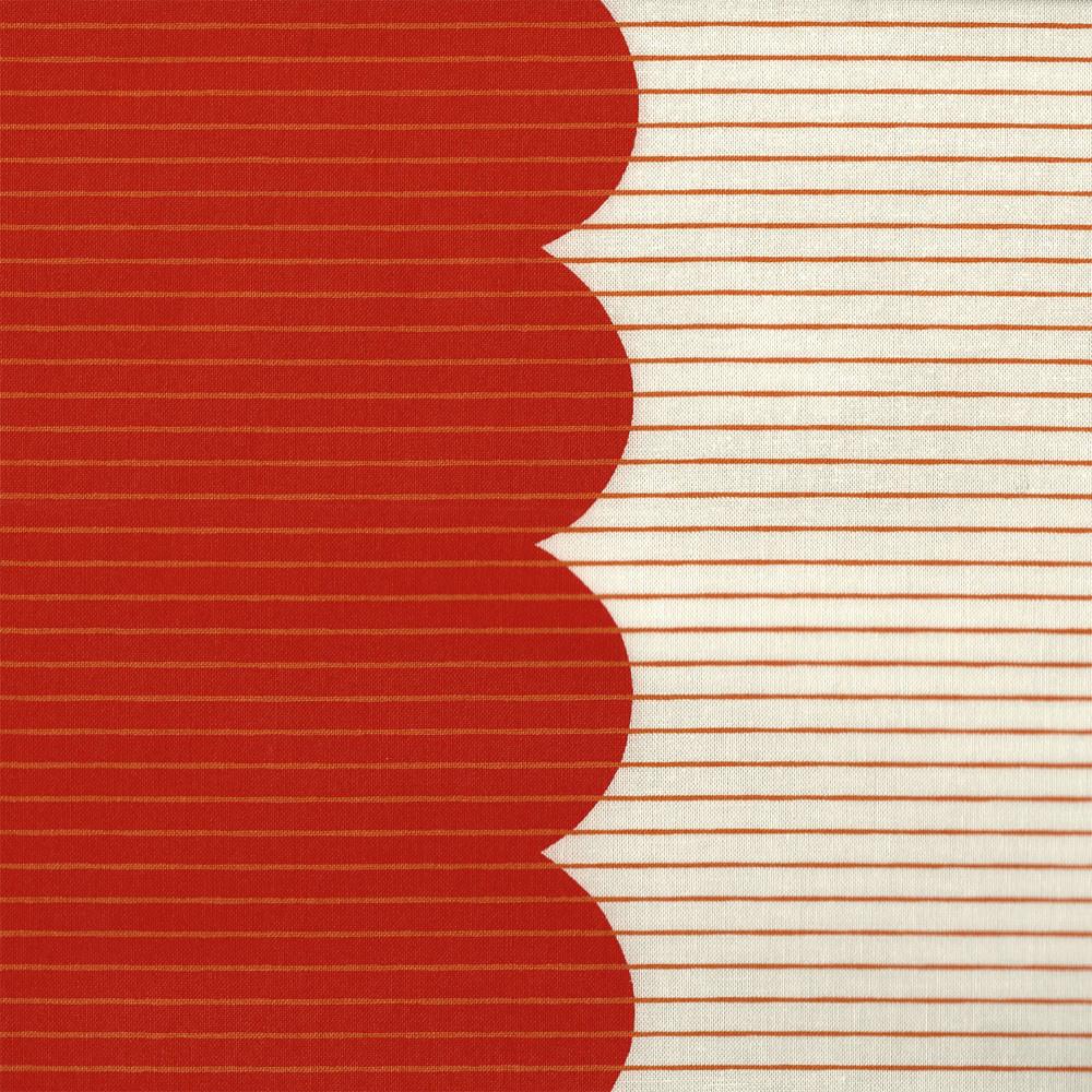 Carolyn Friedlander : Harriot : Tangerine Scallop Single Border : 1/2 metre