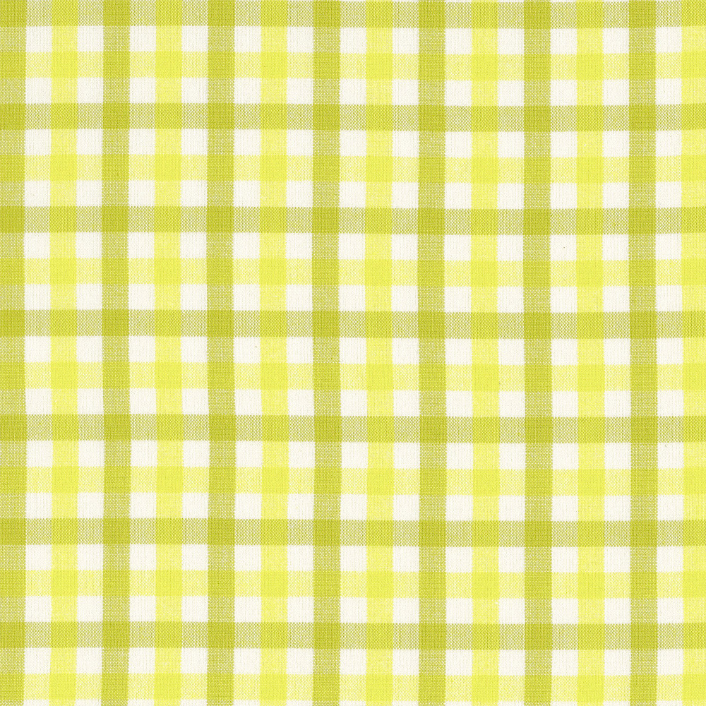 Carolyn Friedlander : Harriot : Wasabi Double Check Yarn Dyed : 1/2 metre