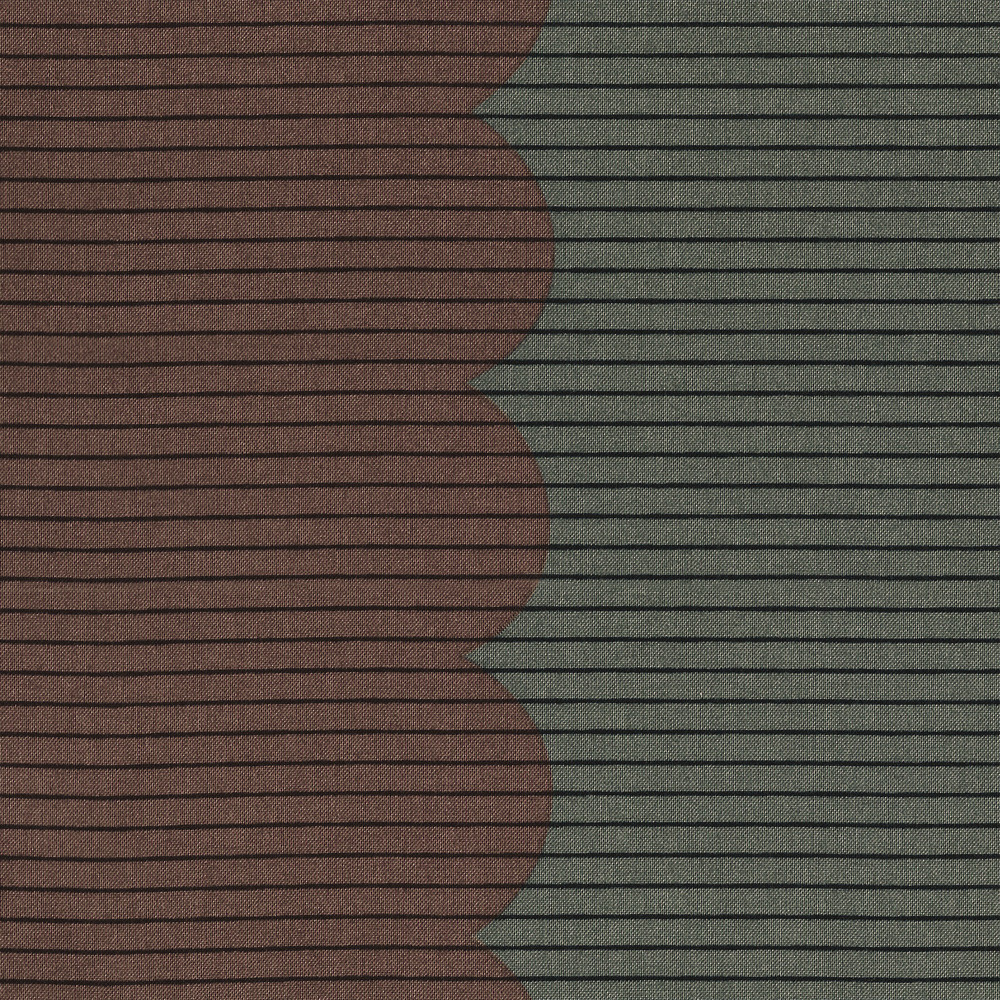 Carolyn Friedlander : Harriot : Zinc Scallop Single Border : 1/2 metre
