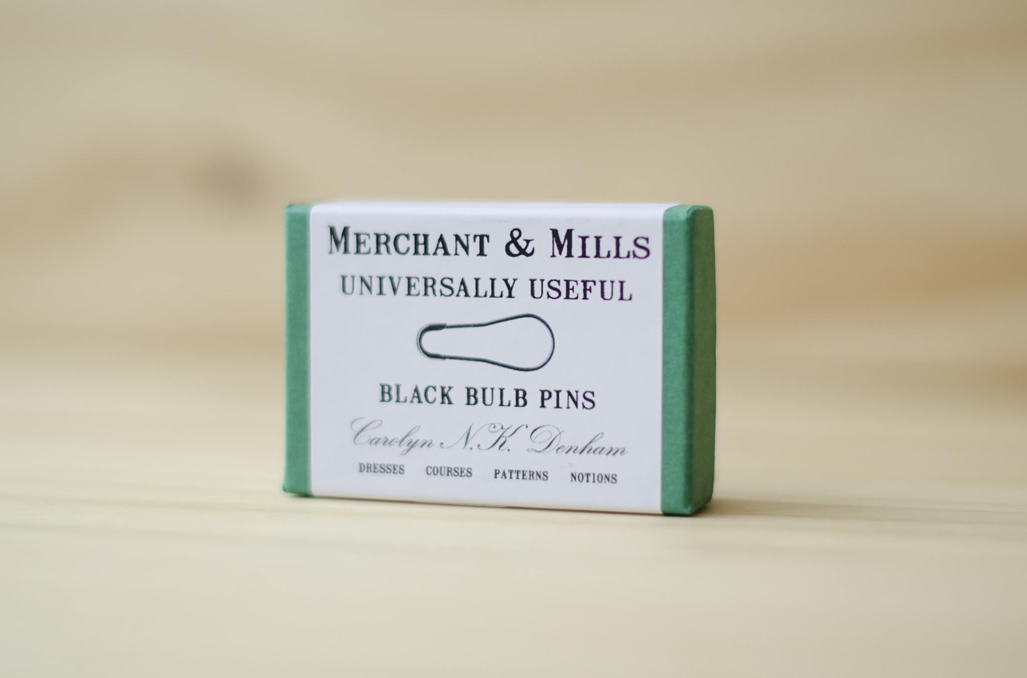 Merchant & Mills : Bulb Pins : Black