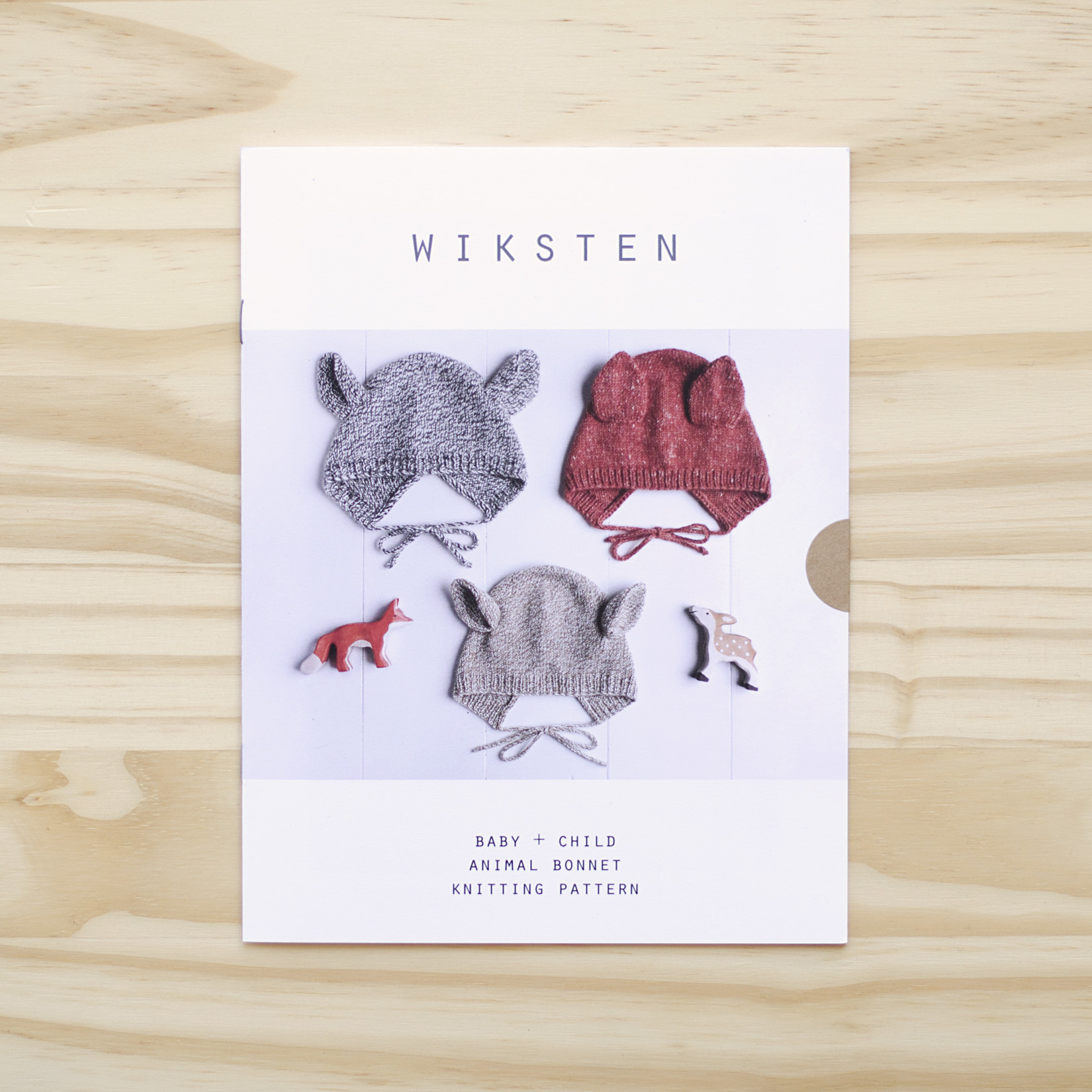 Wiksten : Knitting Pattern : Baby and Child Animal Bonnet