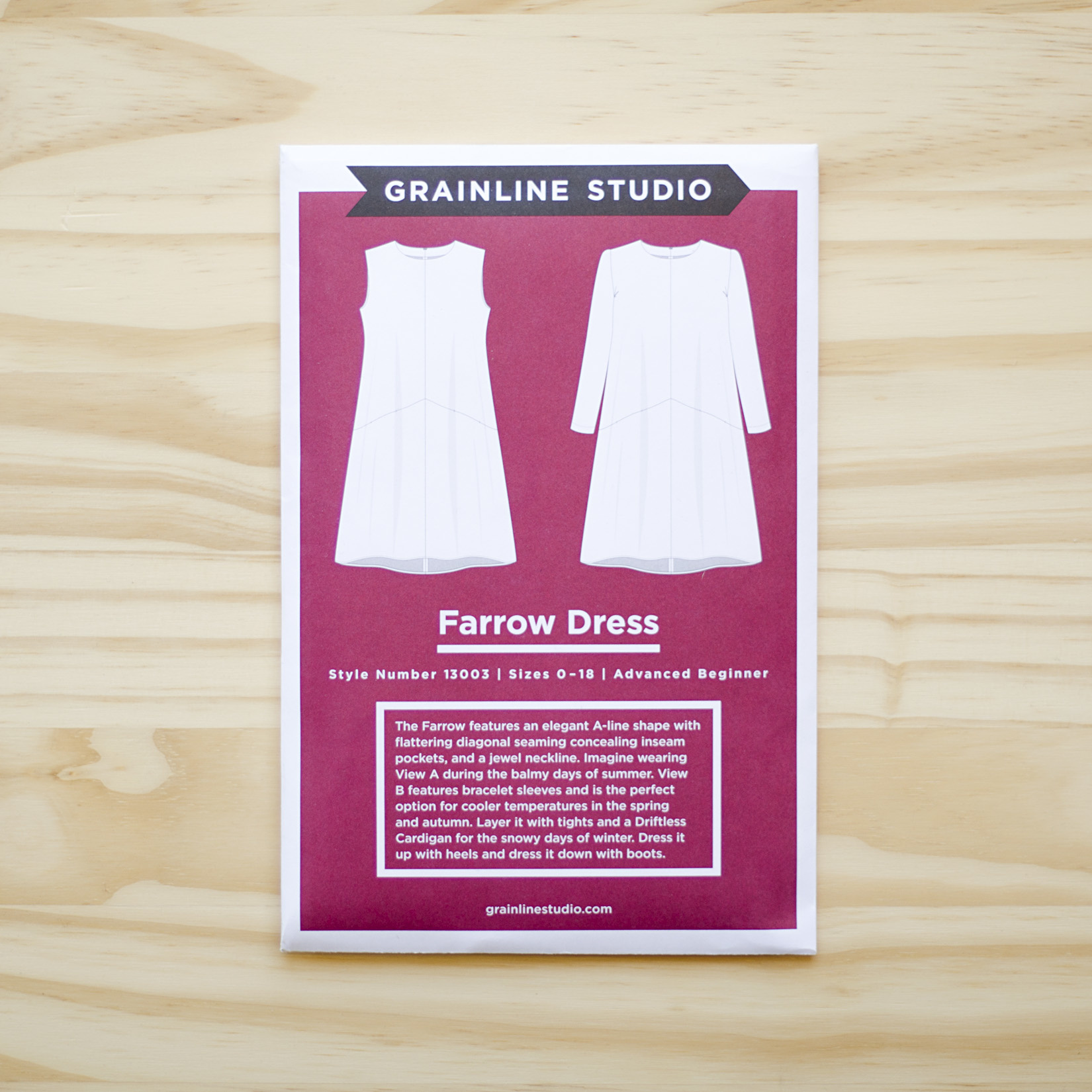 Grainline Studio : Sewing Pattern : Farrow Dress