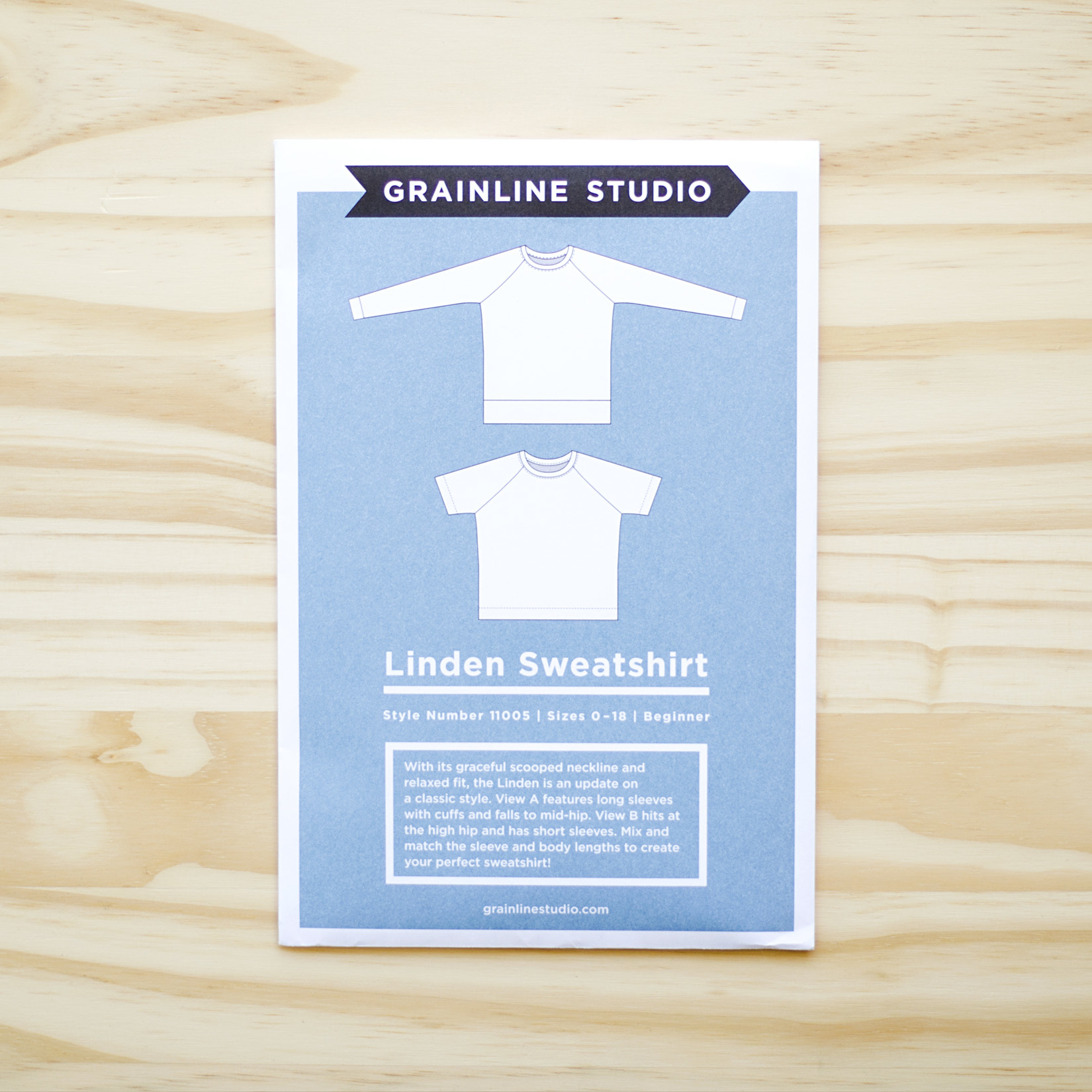 Grainline Studio : Sewing Pattern : Linden Sweatshirt