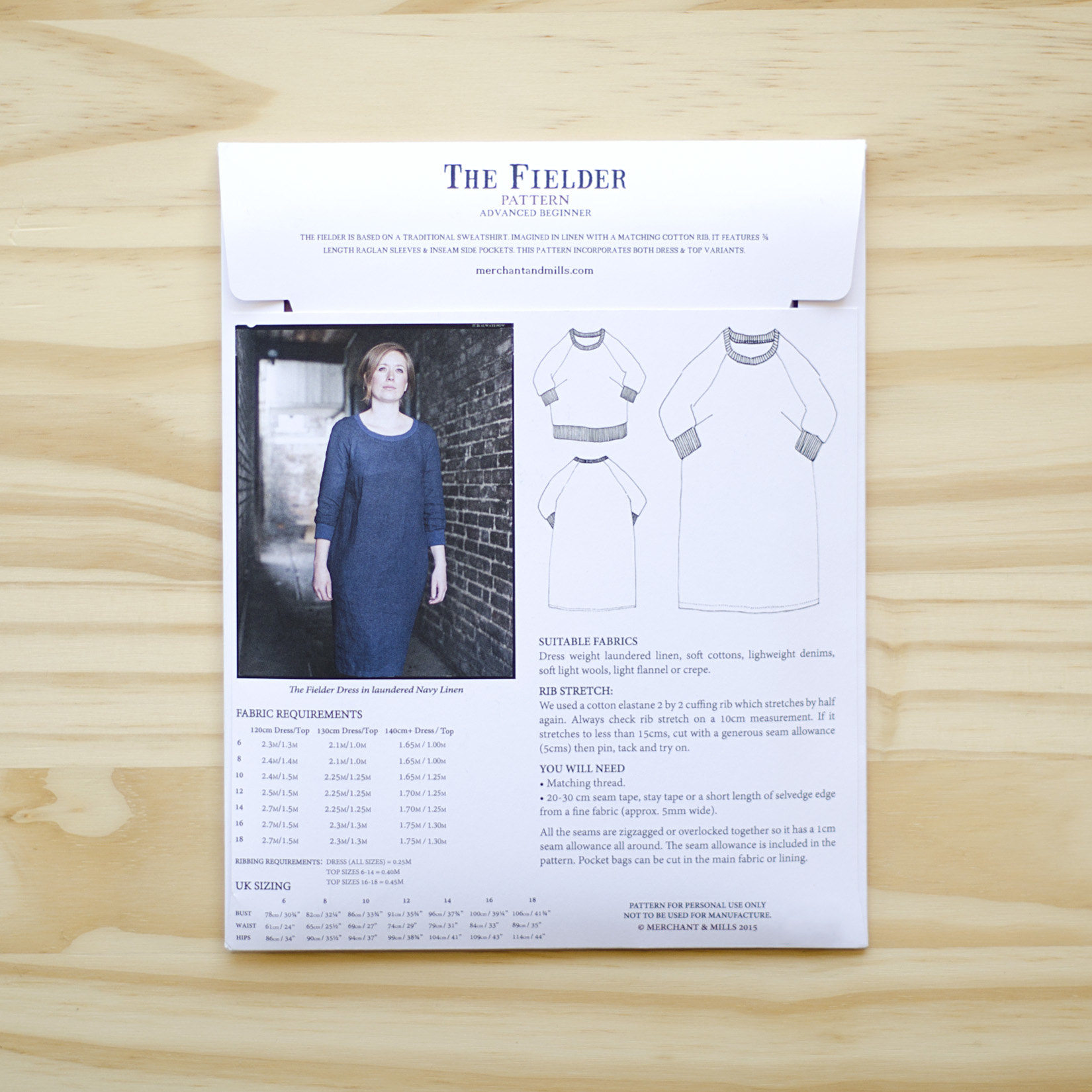 Merchant & Mills : Sewing Pattern : The Fielder