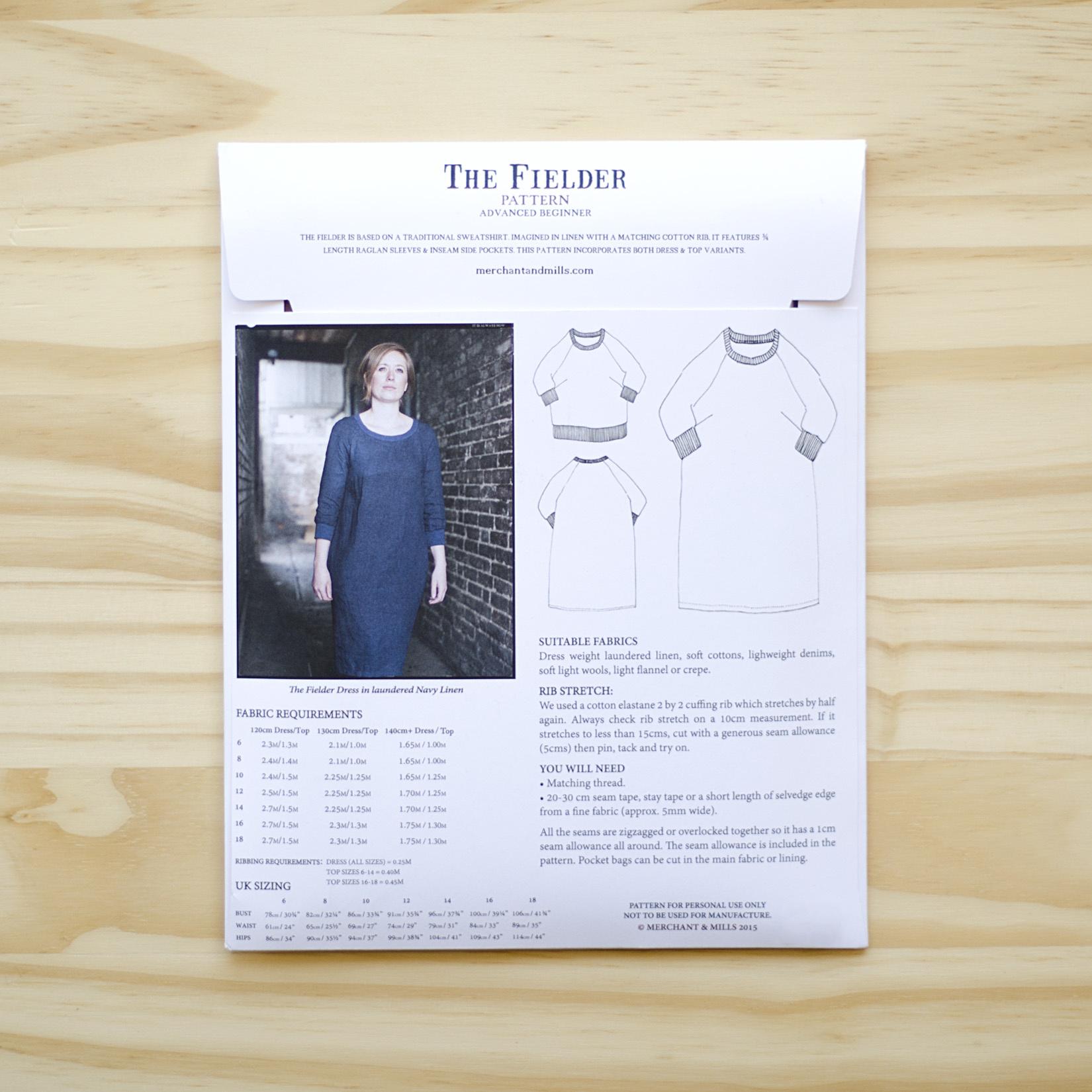 Merchant & Mills : Sewing Pattern : The Fielder