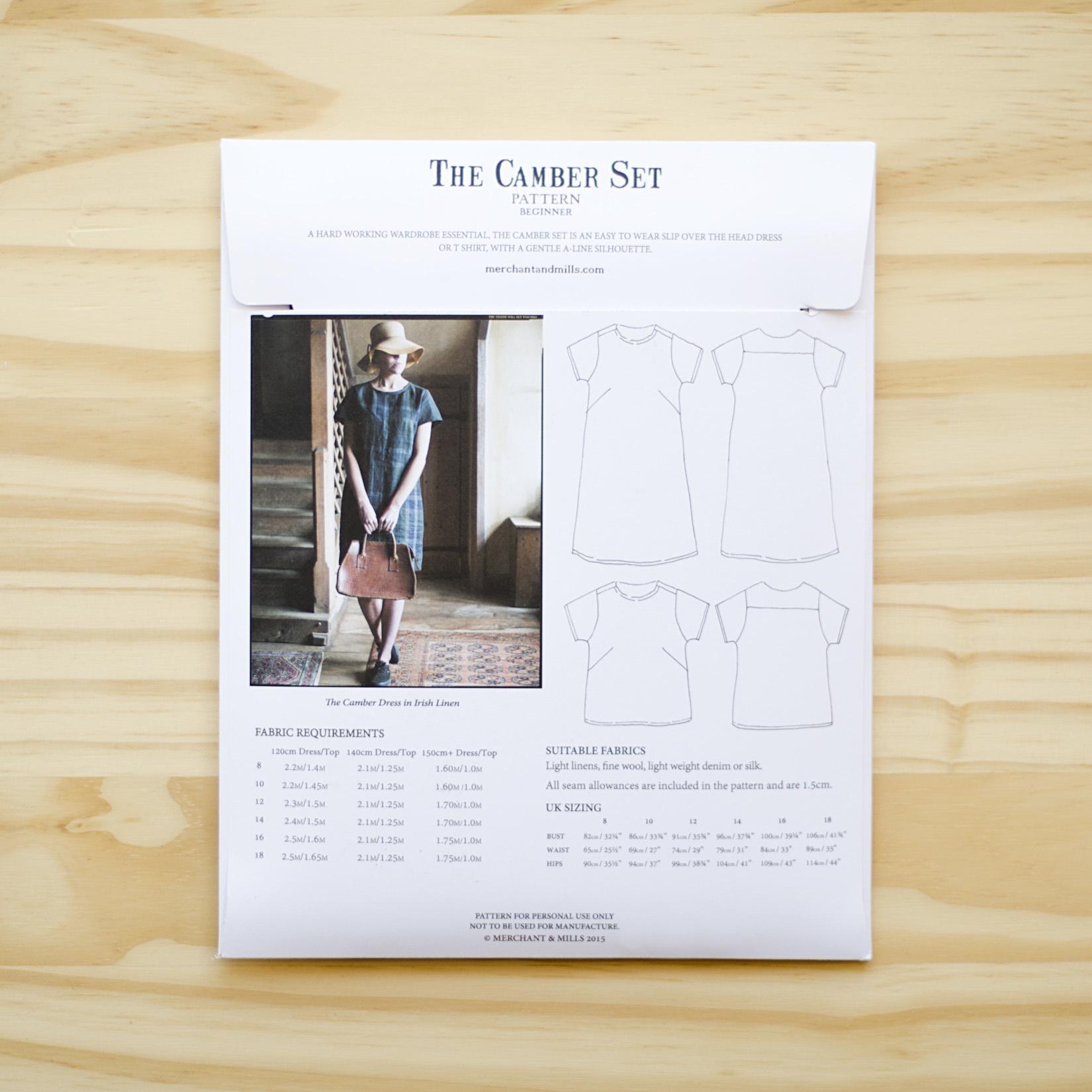Merchant & Mills : Sewing Pattern : Camber Set