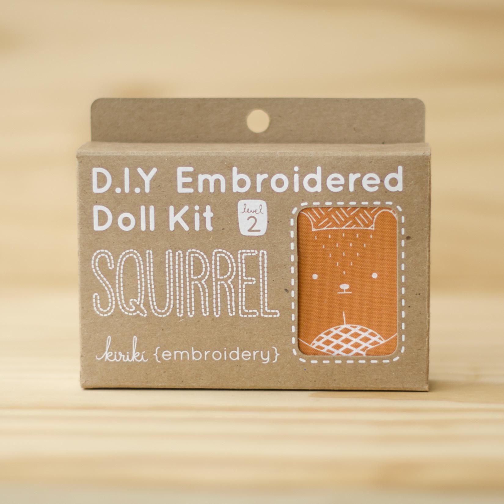 Kiriki Press : Embroidery Kit : Squirrel