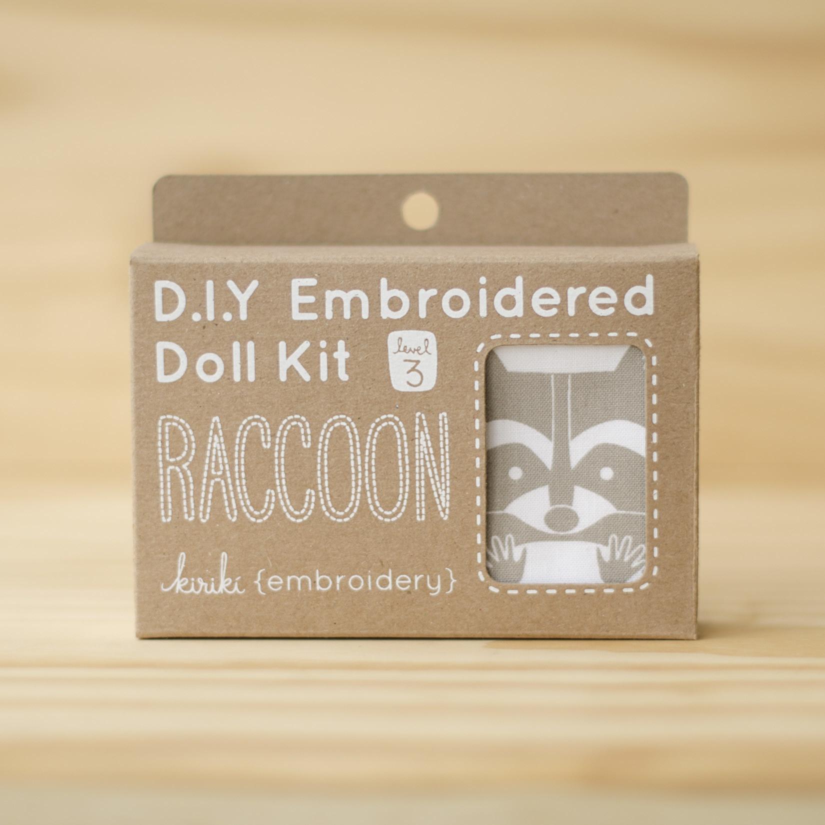 Kiriki Press : Embroidery Kit : Raccoon