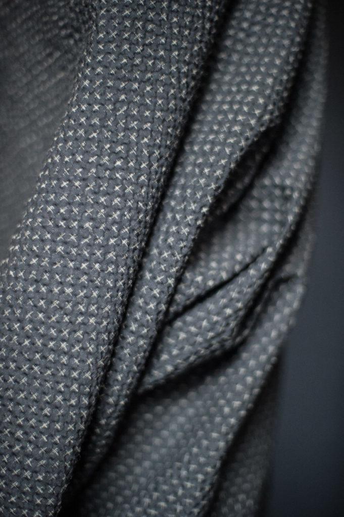 Merchant & Mills : Tottorri Cross Japanese Seersucker : Black : 1/2 metre