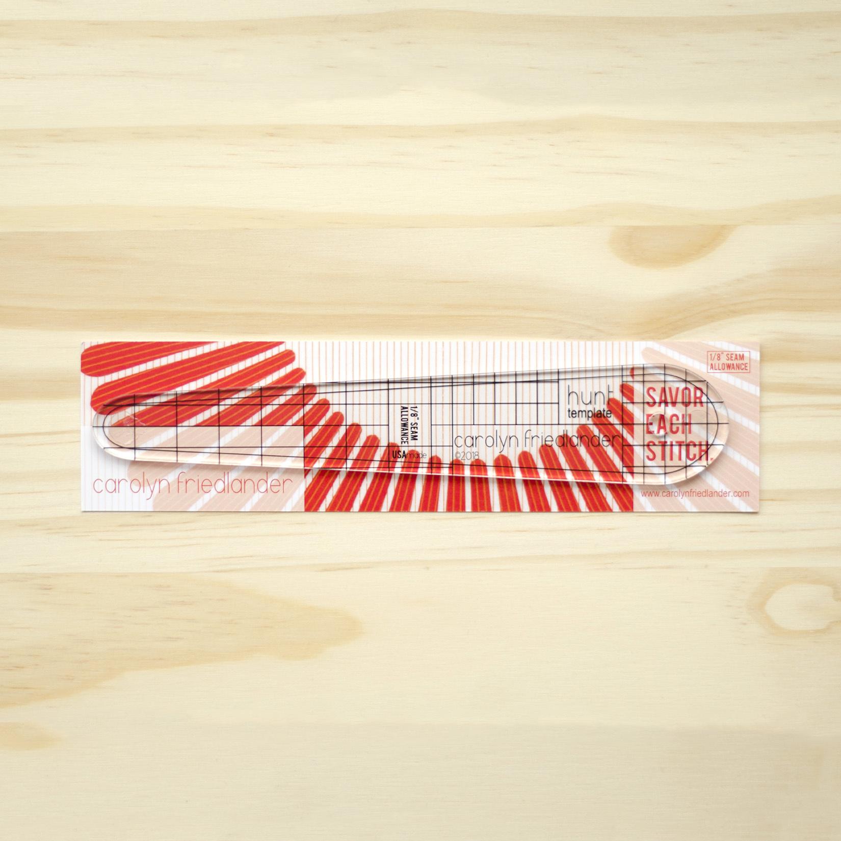 "Carolyn Friedlander : Hunt Quilt Acrylic Template : 1/8"" seam allowance"