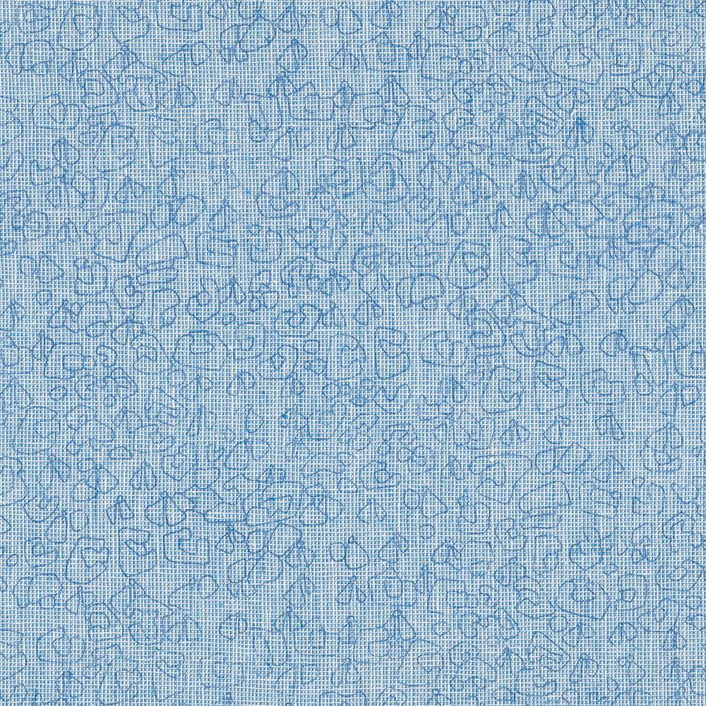 Carolyn Friedlander : Polk : Paris Blue Spots : 1/2 metre