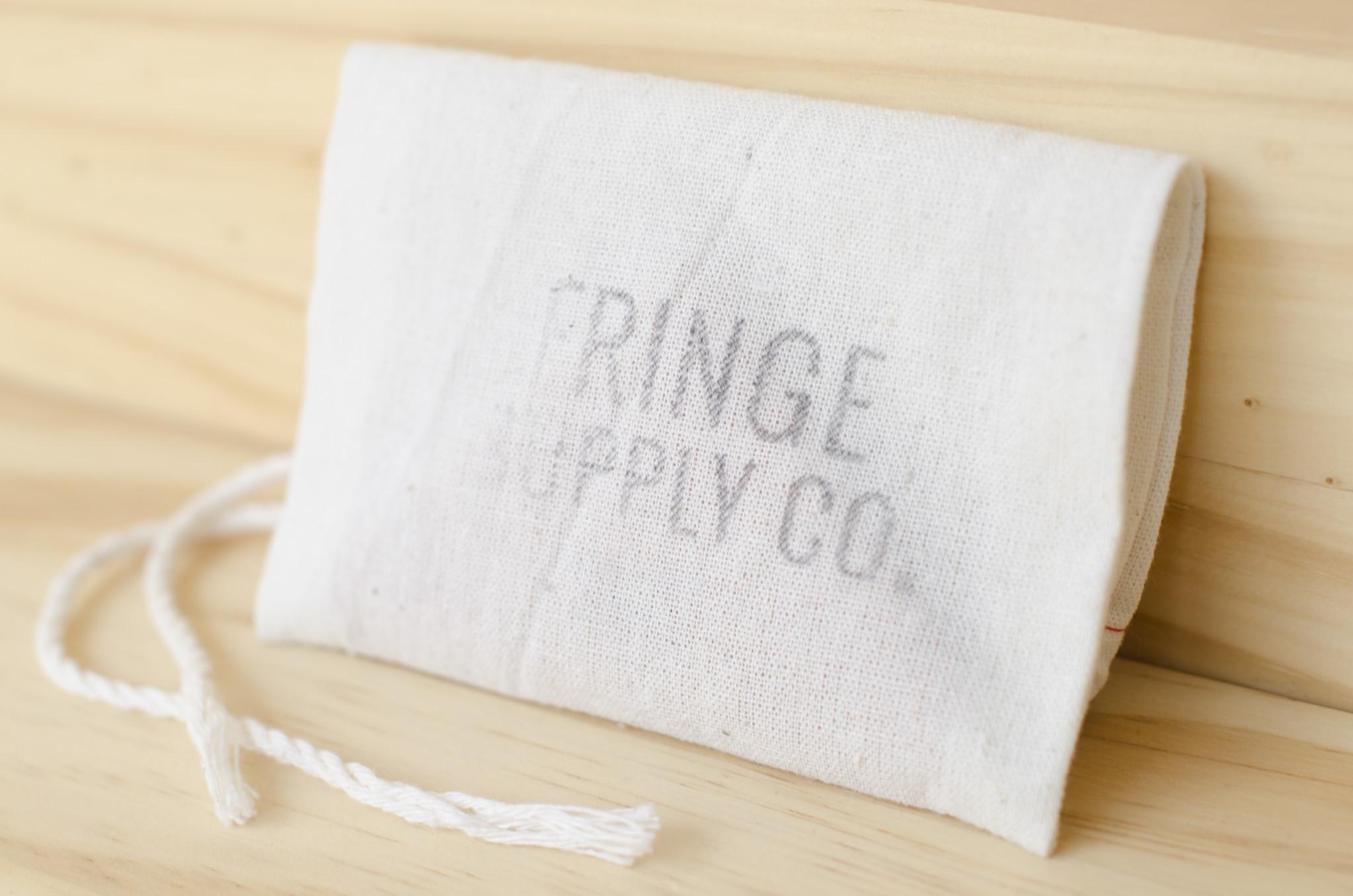 Fringe Supply Co. : Leather Stitch Marker Pouch : Black