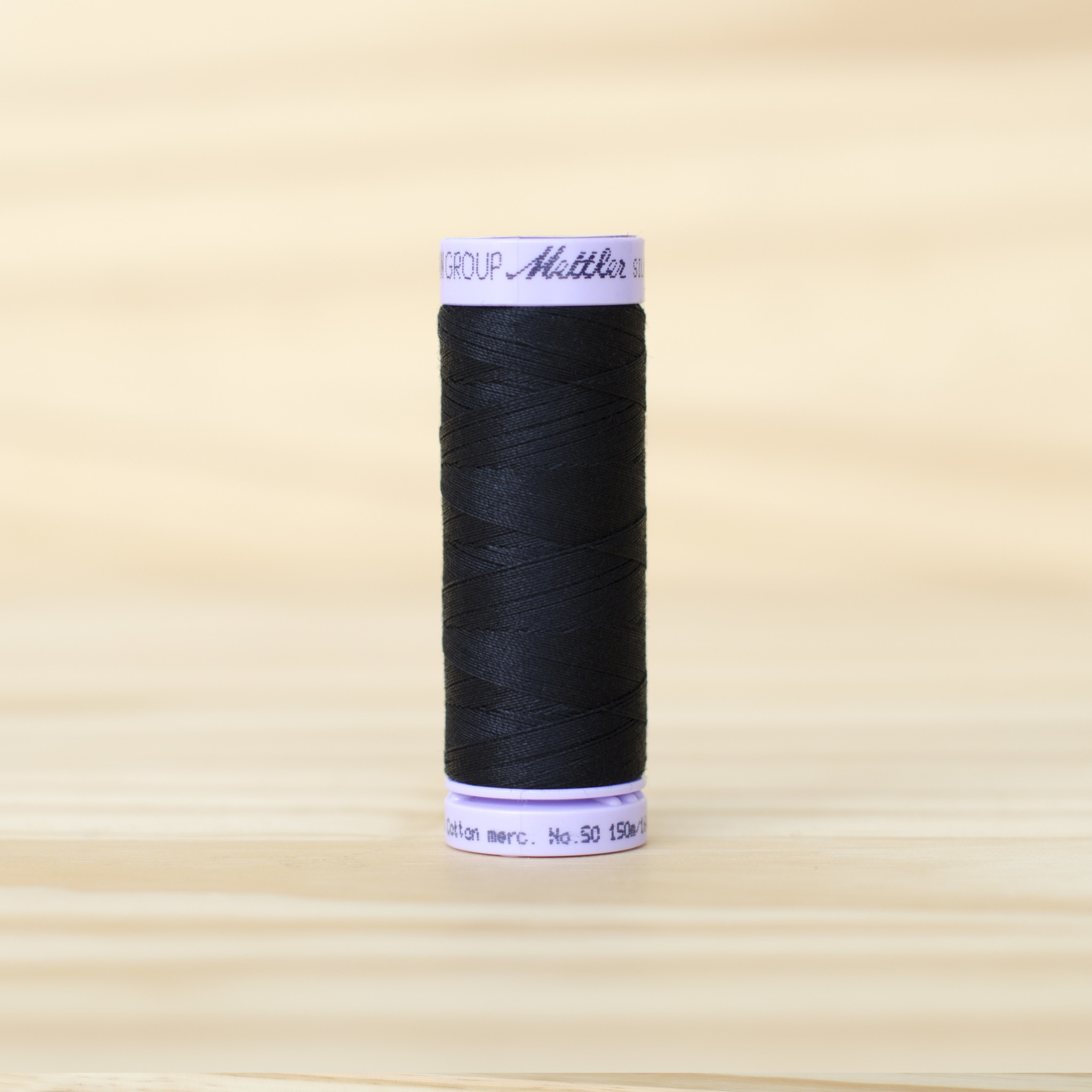 Mettler : Silk Finish 50wt Thread : 100% Cotton : 4000 Black