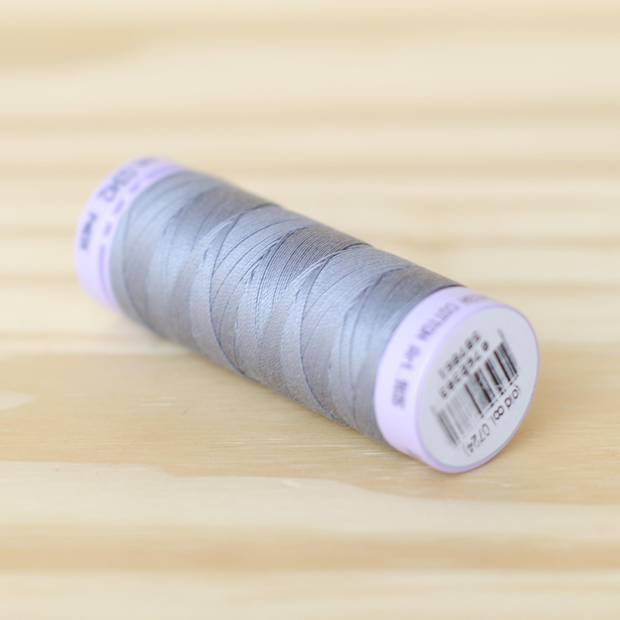 Mettler : Silk Finish 50wt Thread : 100% Cotton : 0342 Flint Stone