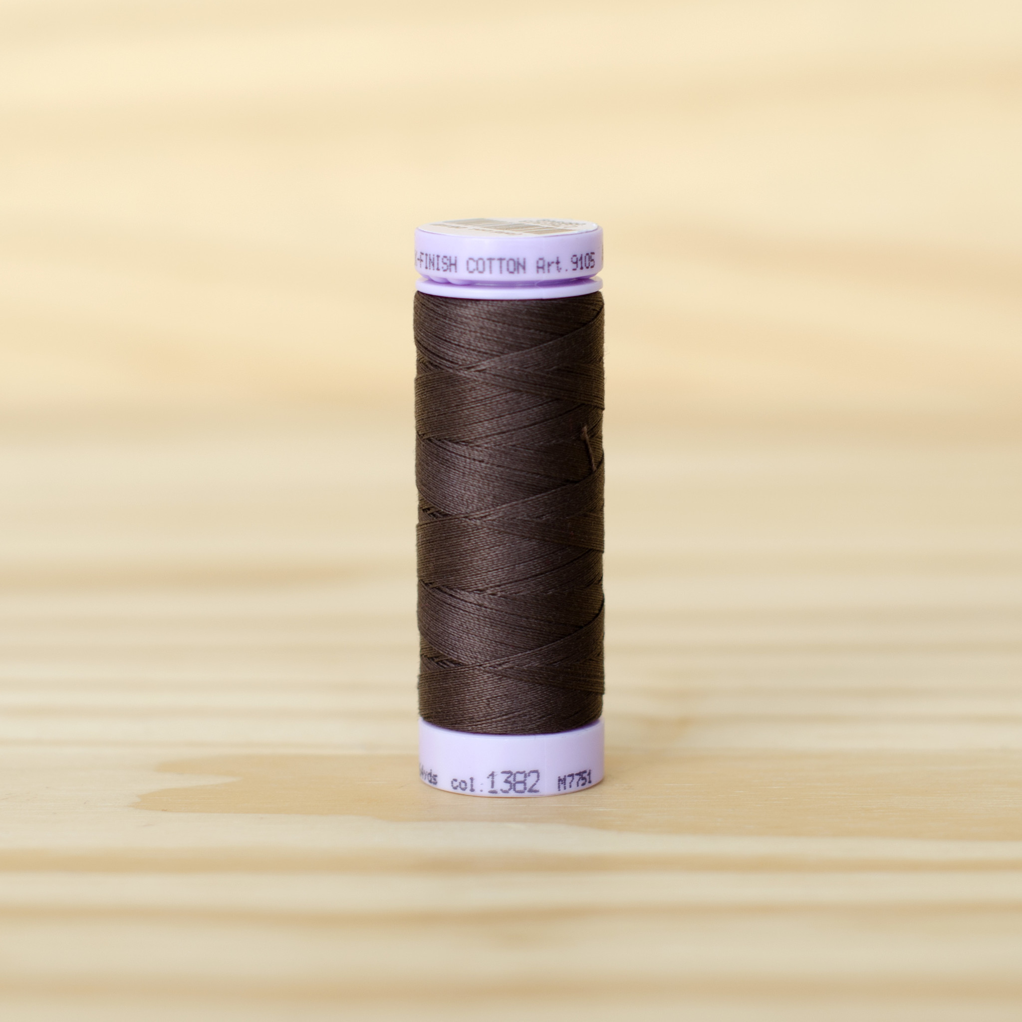 Mettler : Silk Finish 50wt Thread : 100% Cotton : 1382 Black Peppercorn