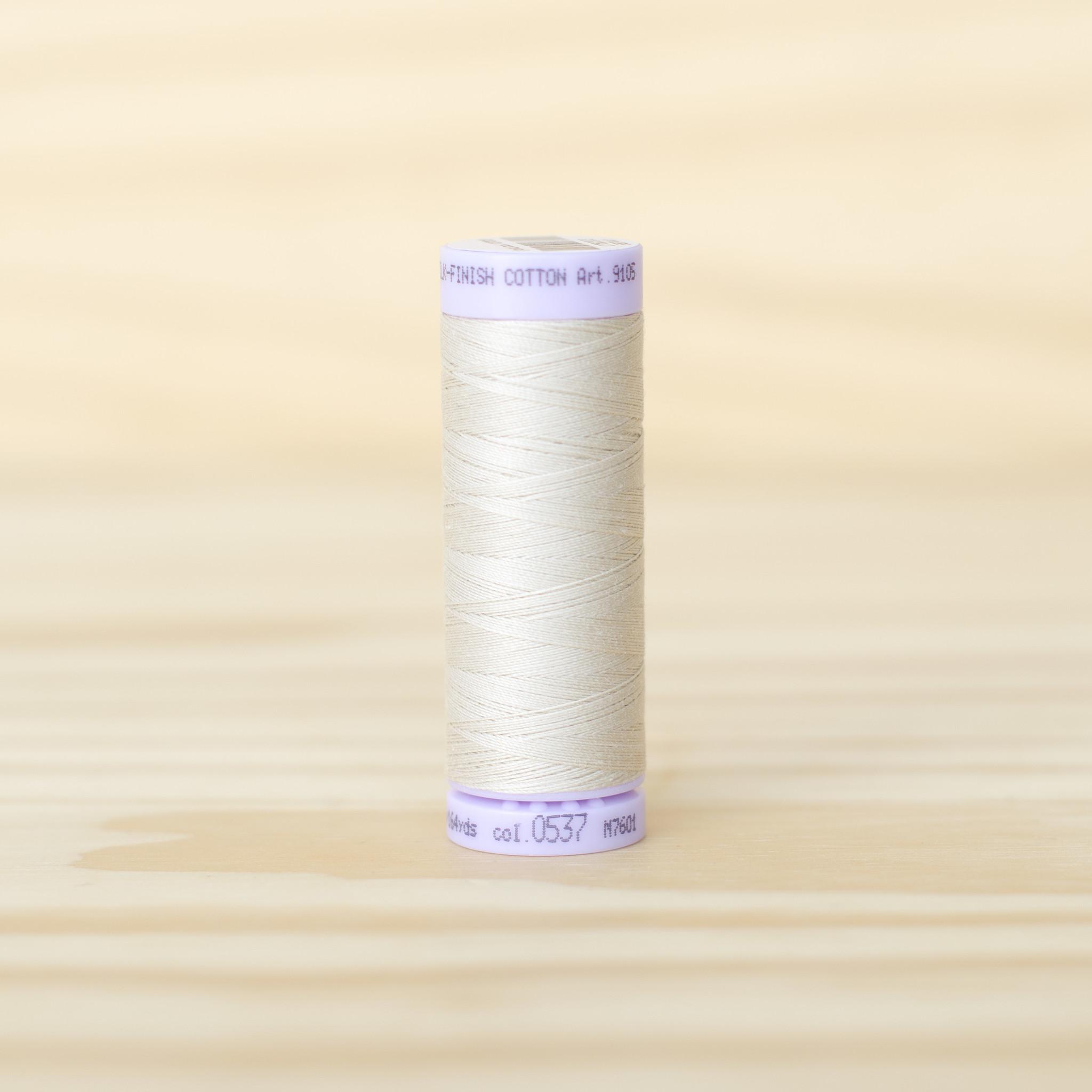 Mettler : Silk Finish 50wt Thread : 100% Cotton : 0537 Oat Flakes