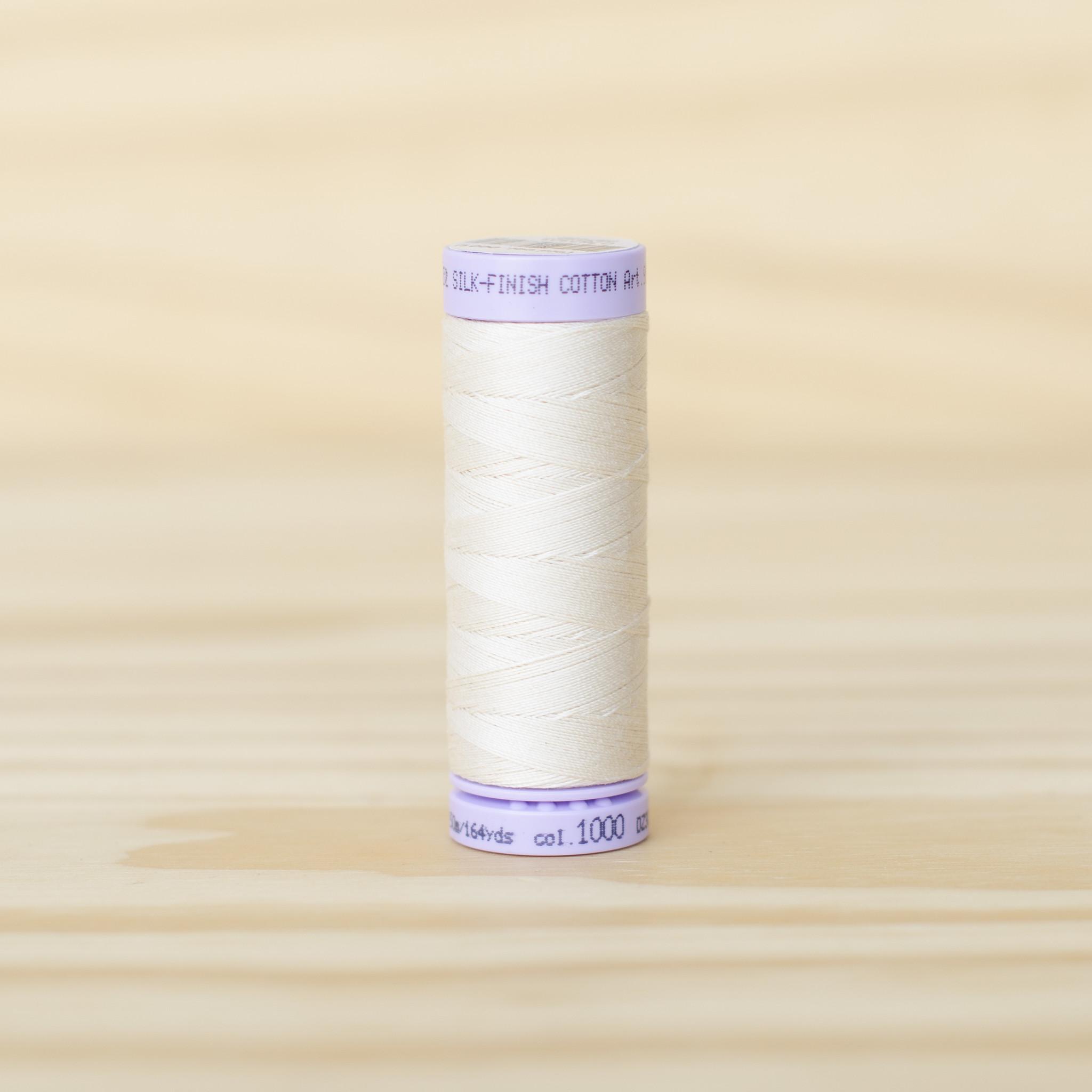 Mettler : Silk Finish 50wt Thread : 100% Cotton : 1000 Eggshell