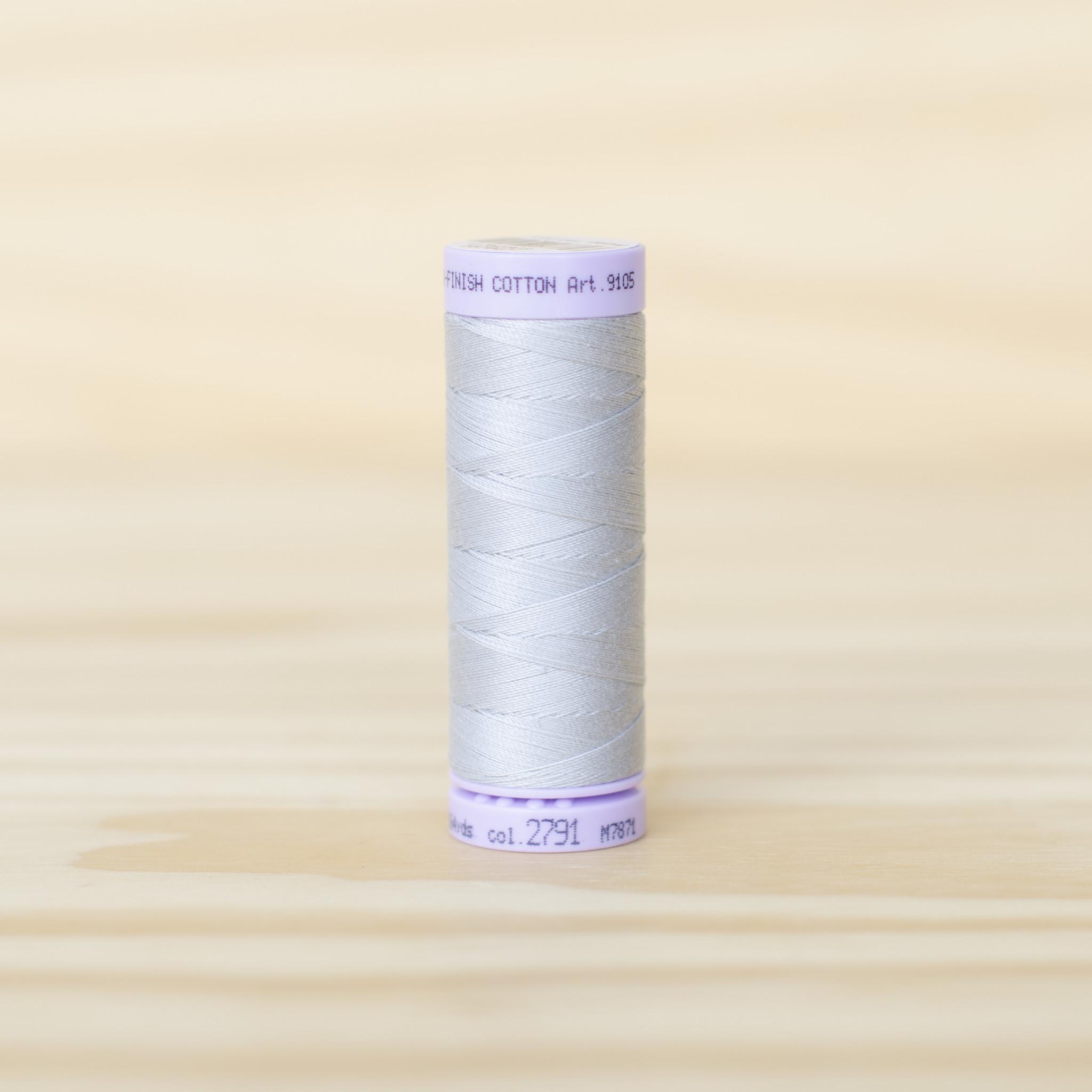 Mettler : Silk Finish 50wt Thread : 100% Cotton : 2791 Ash