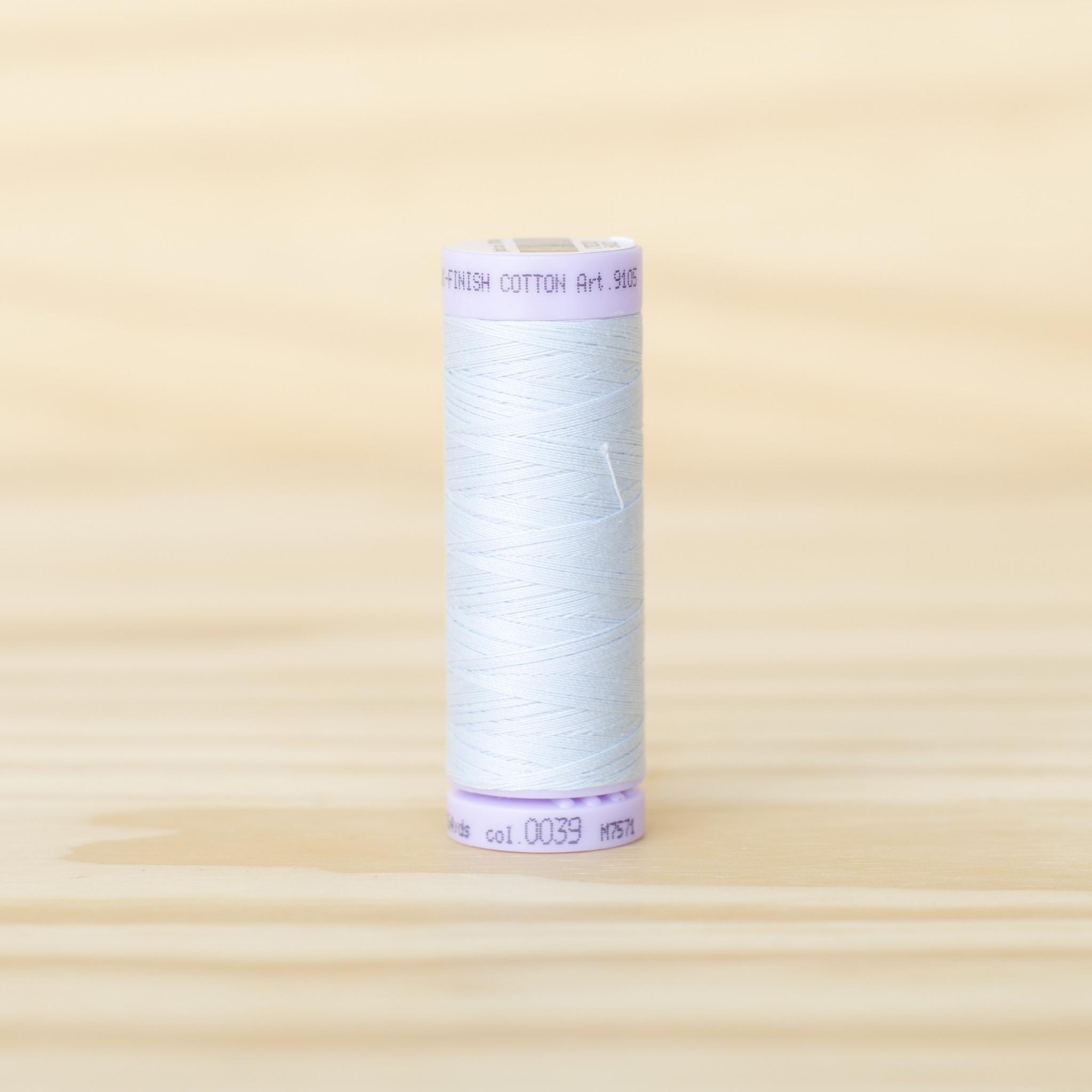 Mettler : Silk Finish 50wt Thread : 100% Cotton : 0039 Starlight Blue
