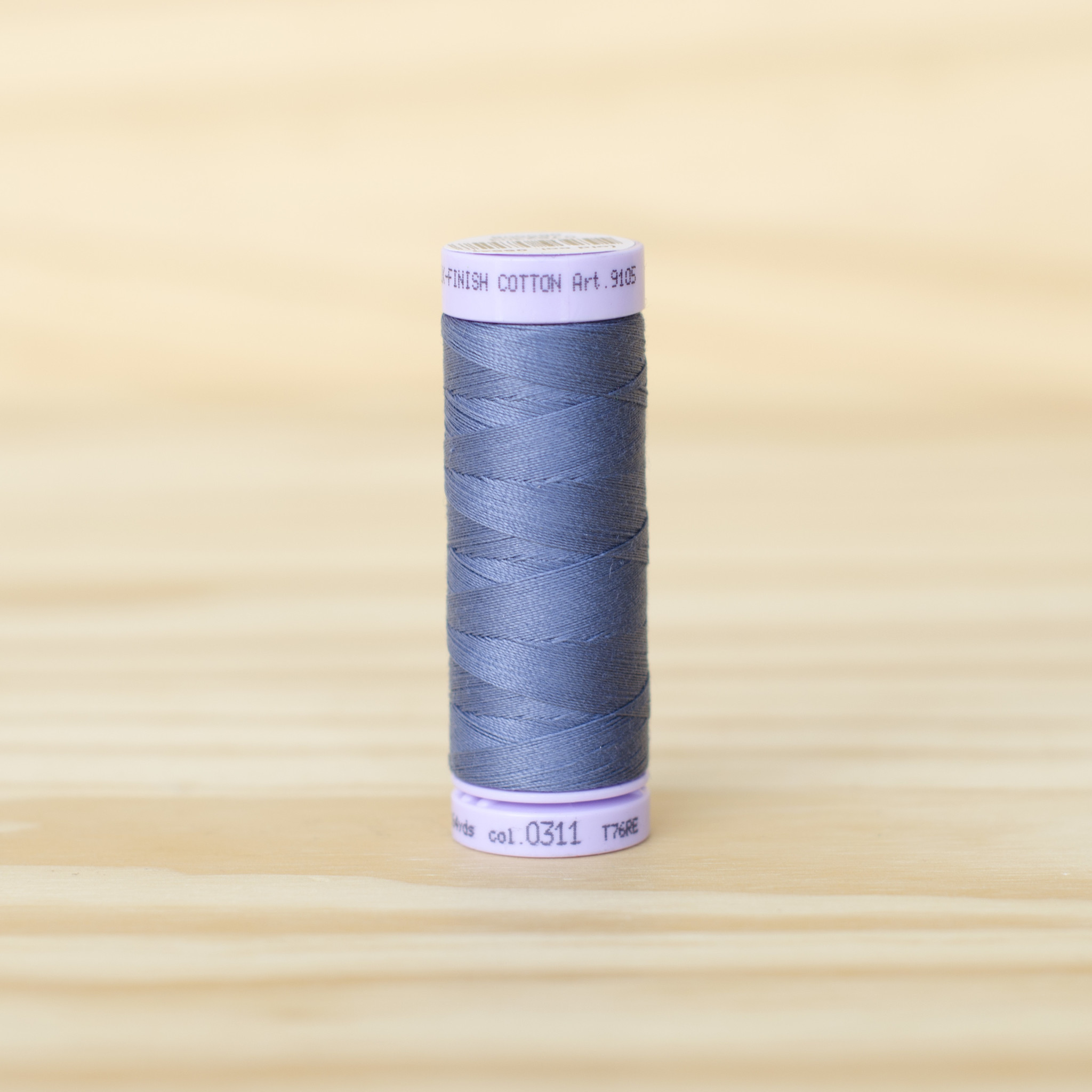 Mettler : Silk Finish 50wt Thread : 100% Cotton : 0311 Blue Shadow
